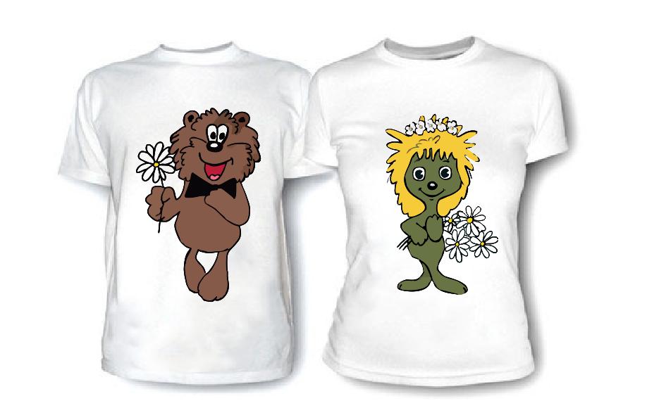 Картинки на футболках для друзей